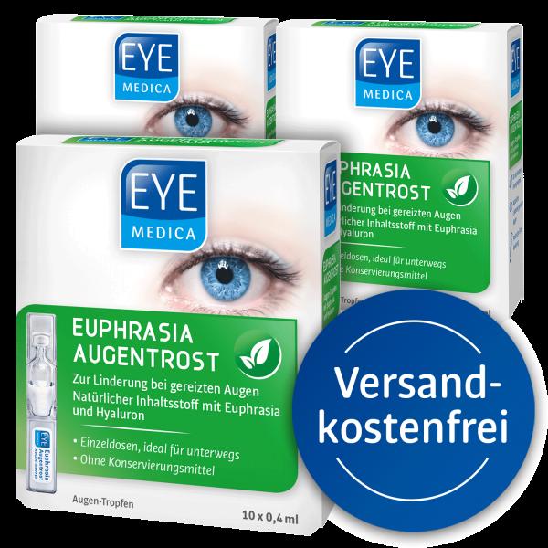 EyeMedica Euphrasia Augentrost ▷ 3er Set